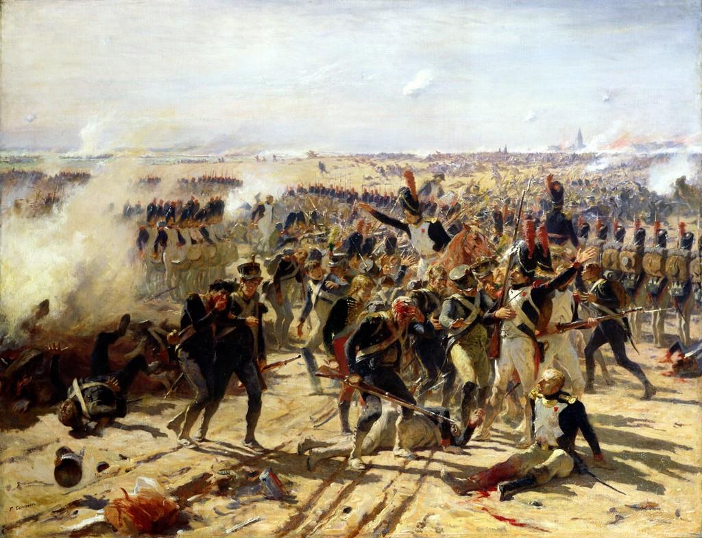 Bitwa pod Essling na obrazie Fernanda Cormona (domena publiczna).