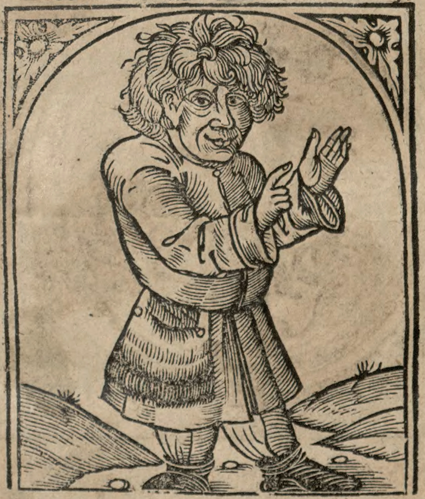 Chłop na rycinie z XVI-wiecznego Żywotu Ezopa Fryga.