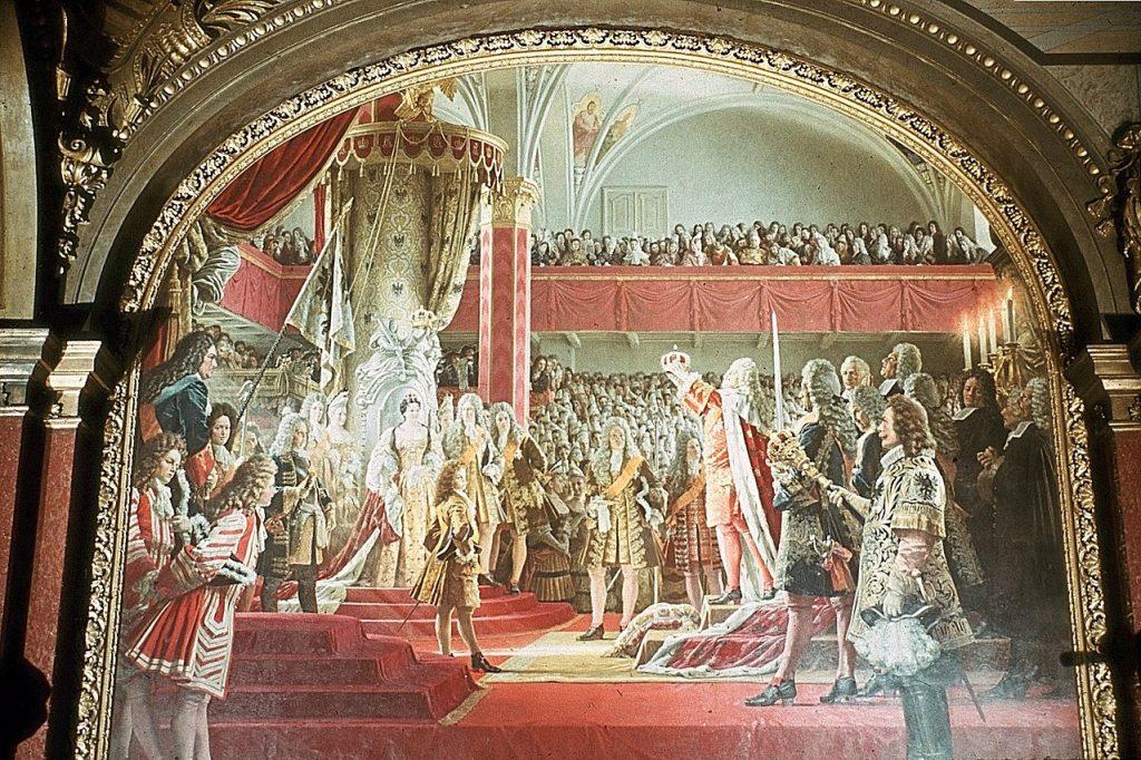 Koronacja Fryderyka I w 1701 roku (Anton von Werner domena publiczna).