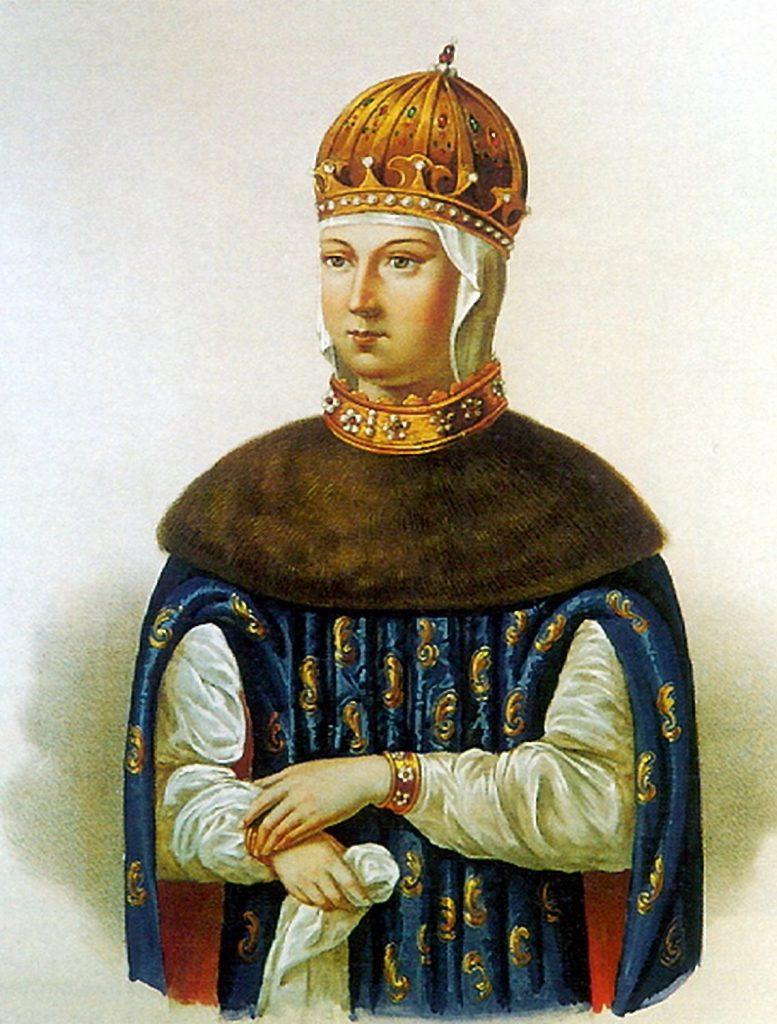 Codzienność moskiewskich caryc niewiele różniła się od życia innych wysoko urodzonych Rosjanek. Na ilustracji caryca Maria Miłosławska, matka Fiodora III (domena publiczna).