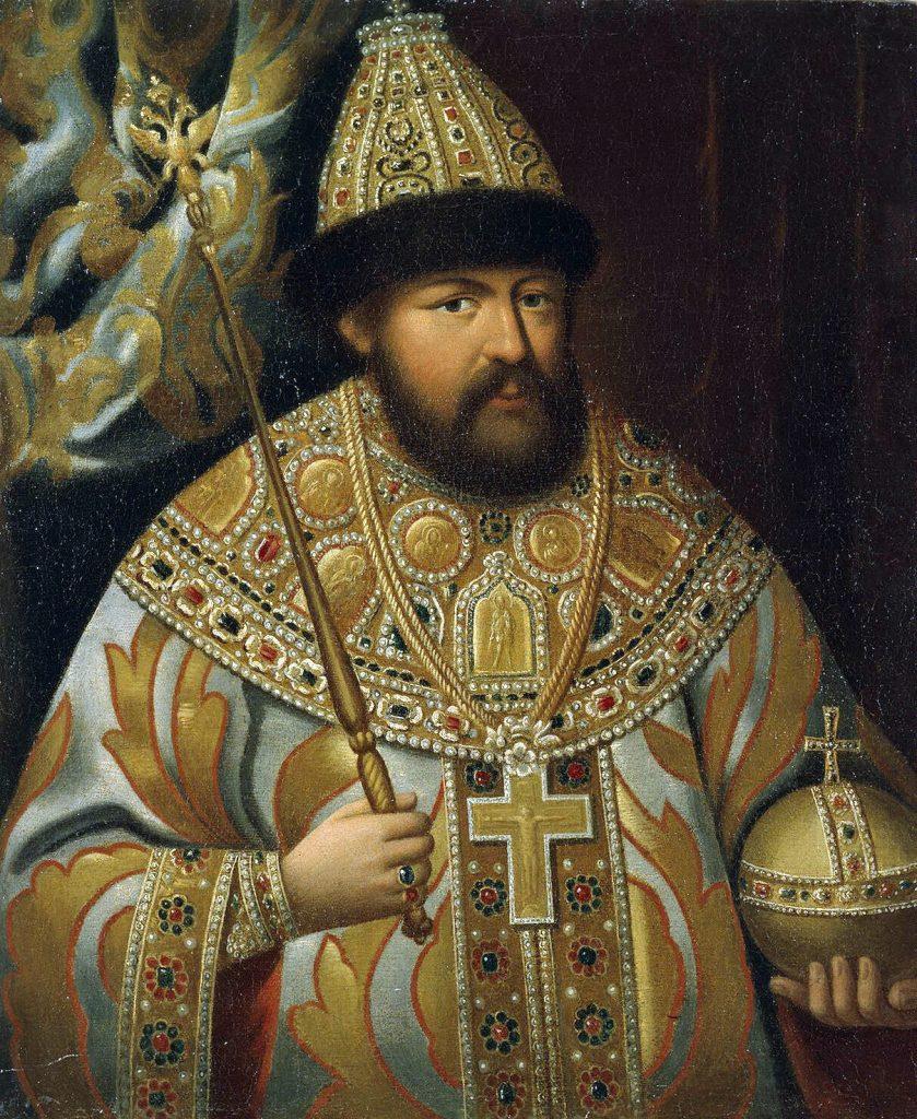 Ojciec Fiodora III car Aleksy I Romanow (domena publiczna).