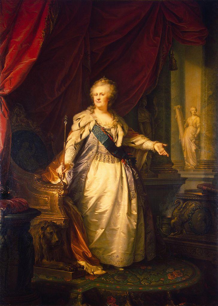 Portret Katarzyny II wykonany trzy lata przed jej śmiercią (Jan Chrzciciel Lampi/domena publiczna).