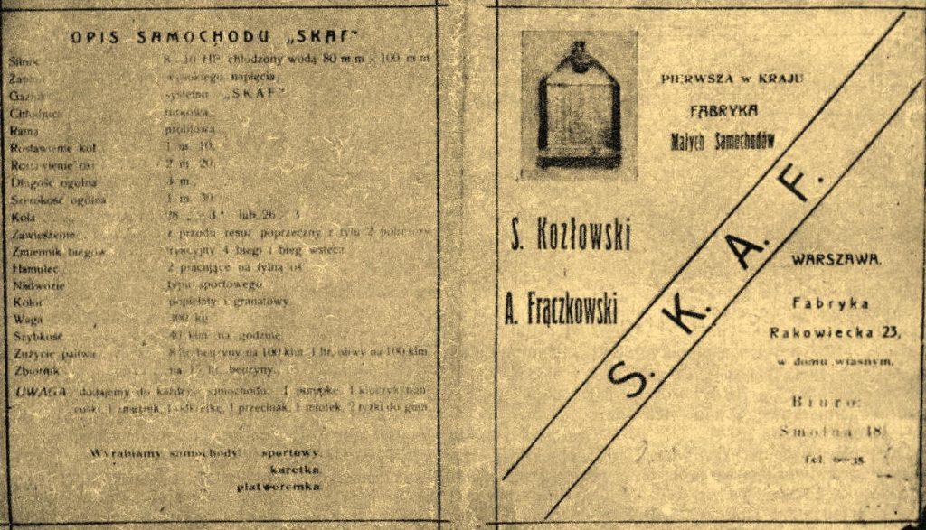 SKAF był pierwszym polskim samochodem skonstruowanym po odzyskaniu niepodległości (domena publiczna).