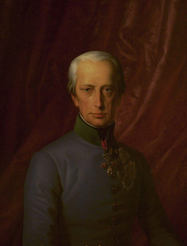 W 1809 roku cesarz Franciszek II zdecydował się wypowiedzieć wojnę Francuzom (Leopold Kupelwieser/domena publiczna).