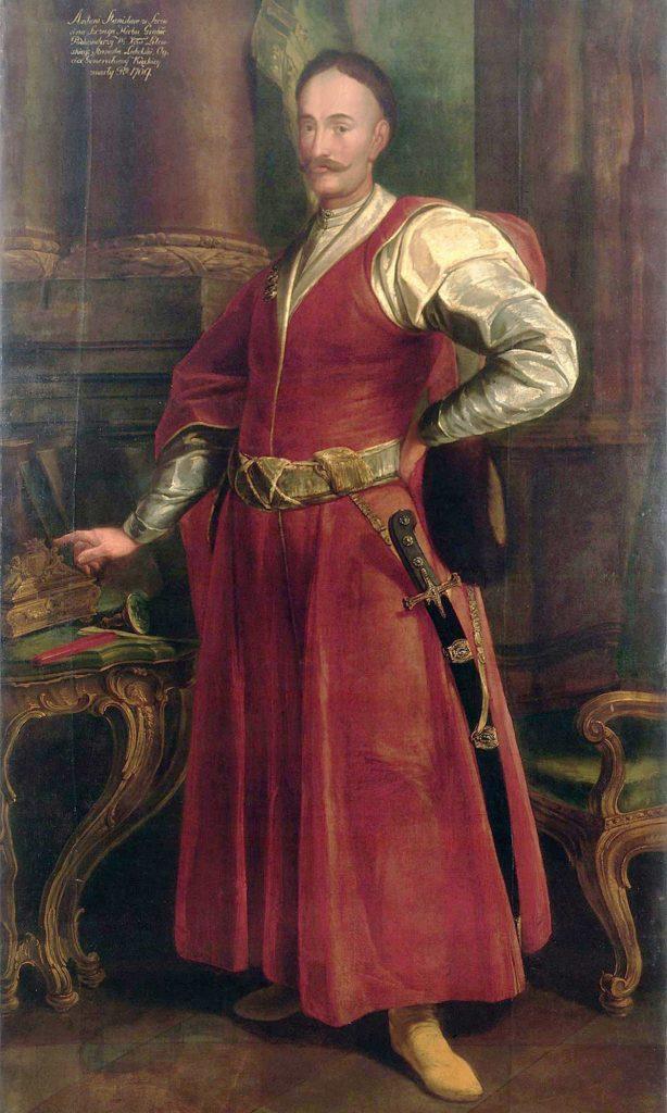 W czasie, gdy Agafia była carycą kontusze stały się modne na moskiewskim dworze (domena publiczna).