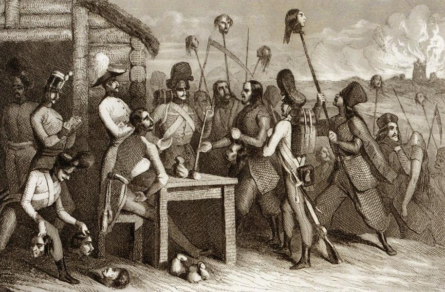 W czasie rabacji chłopi zabili najprawdopodobniej ponad 2 tysiące ludzi (domena publiczna).