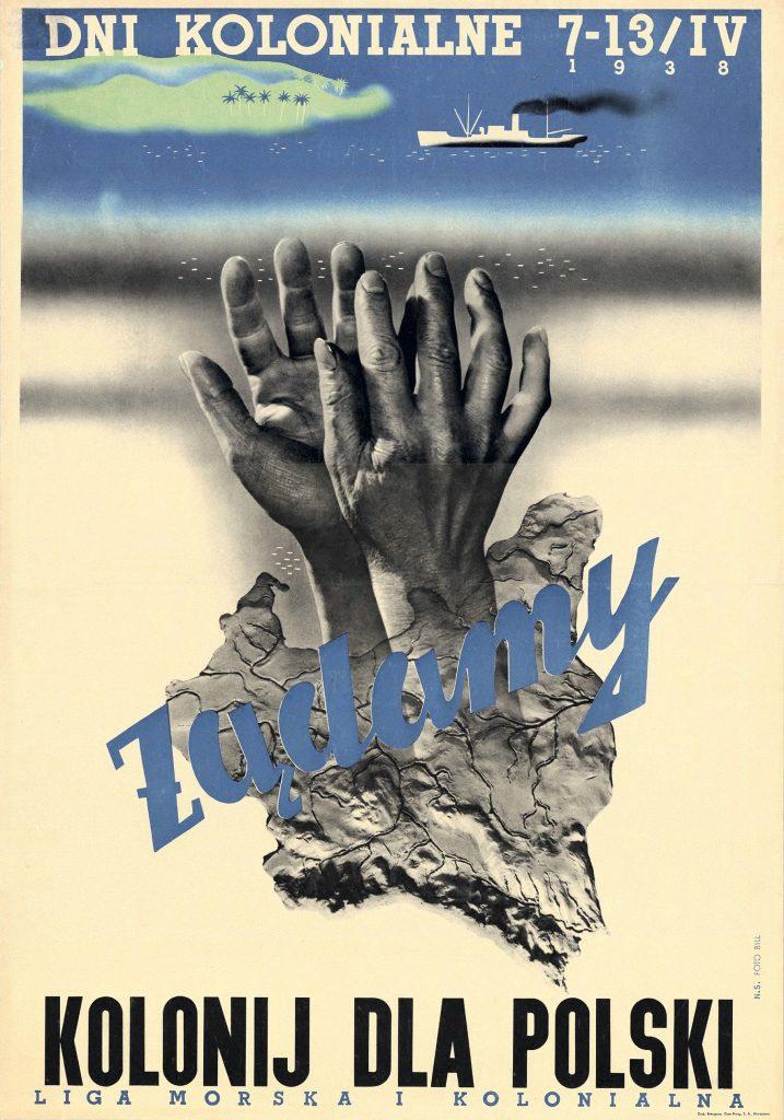 Plakat promujący Dni kolonialne z 1938 roku (domena publiczna).