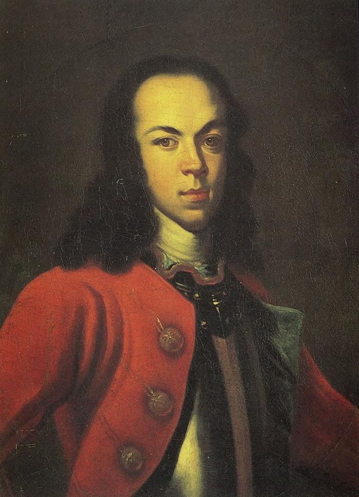 Aby wydobyć zeznania z Aleksego poddano go okrutnym torturom. Na ilustracji portret carewicza autorstwa Johanna Gottfrieda Tannauera (domena publiczna).