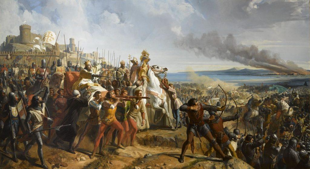 Bitwa pod Montgisard na obrazie Philippe'a Larivière'a (domena publiczna).