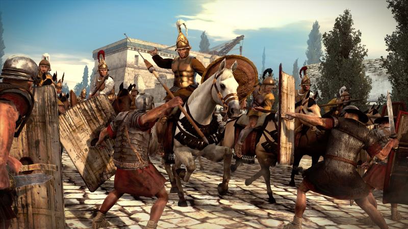 Epirocka konnica. Grafika z gry Total War. Rome II.