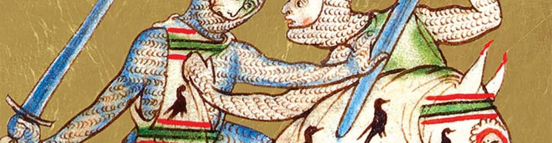 Knut Wielki w walce na miniaturze z epoki.