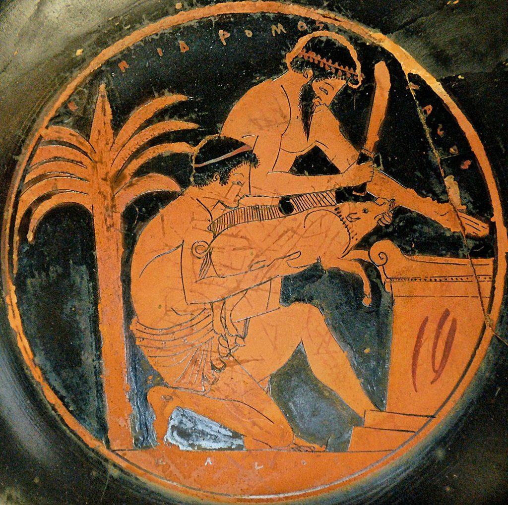 Najtańszym mięsem w starożytnej Grecji była wieprzowina (Jastrow/domena publiczna).