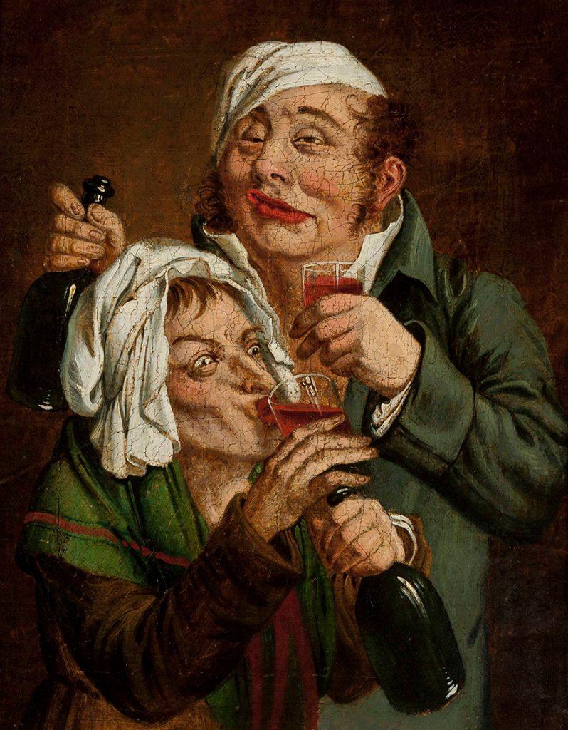 Obraz Jana Feliksa Piwarskiego para pijaków