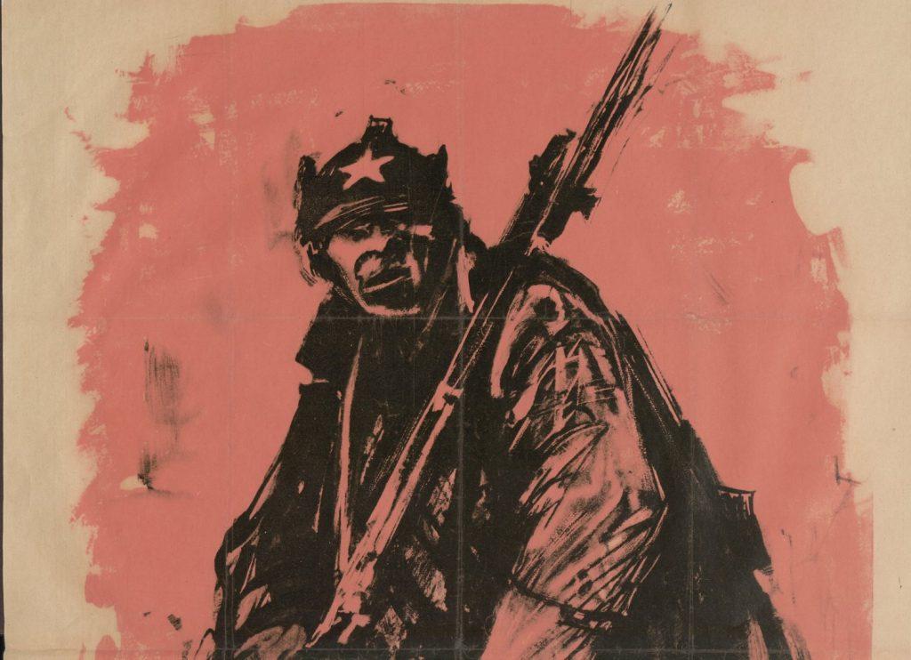 Okrucieństwa wojny sprawiły, że wielu czerwonoarmistów nie miało żadnej litości dla innych (domena publiczna).