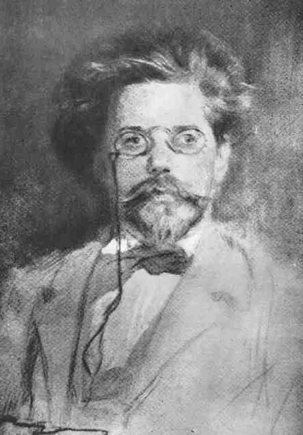 Portret Reymonta z 1896 roku autorstwa Antoniego Kamieńskiego (domena publiczna).