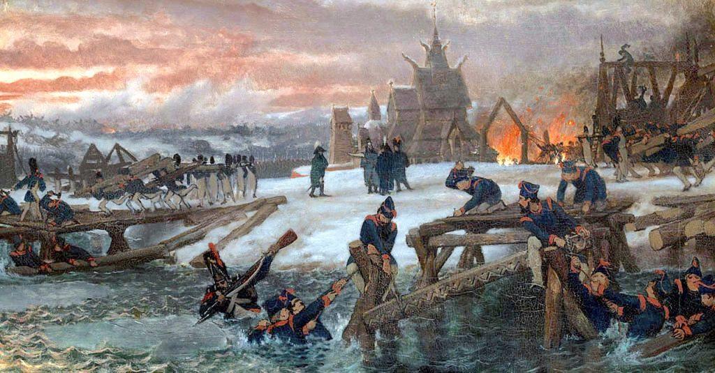 Saperzy budjący mosty na Berezynie (Lawrence Alma-Tadema/domena/publicna).