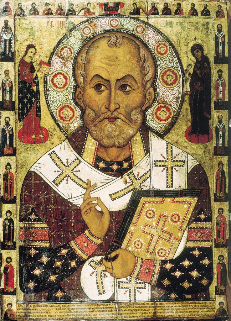 Średniowieczna ikona przedstawiająca św. Mikołaja (Aleks Pietrow/domena publiczna).