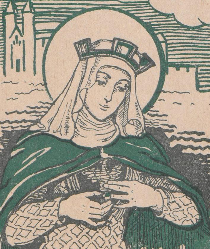 Wyobrażenie księżnej Kingi na okładce salezjańskiej broszury z 1934 roku.