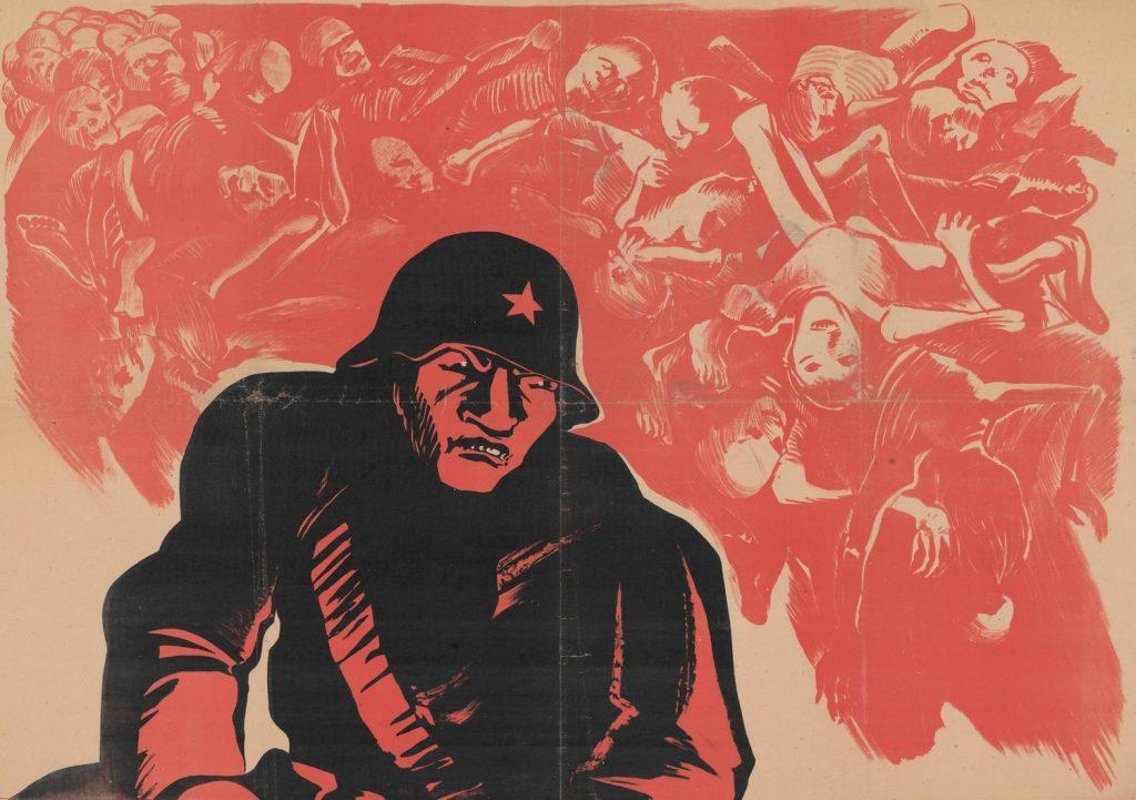 Tak niemiecka propaganda skierowana do Polaków przedstawiała czerwonoarmistów. Czasami rzeczywistość niewiele różniła się propagandy (domena publiczna).