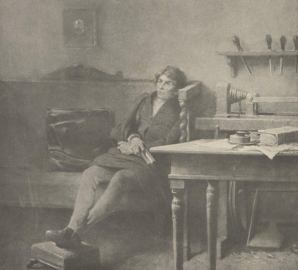 W niewoli Kościuszko zajmował się między innymi tokarstwem. Powyżej ilustracja z XIX-wiecznej biografii Kościuszki (domena publiczna).
