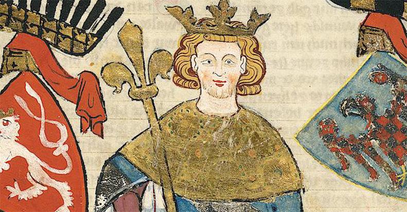Wacław II na miniaturze z tzw. Kodeksu Manesse.