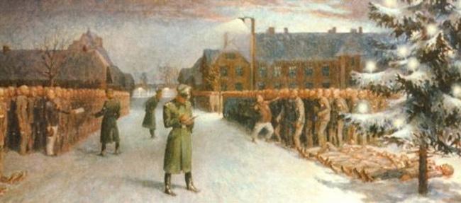 Obozowa choinka ozdobiona orłem. Praca Leokadii Szymańskiej w zbiorach Miejsca Pamięci i Muzeum Auschwitz-Birkenau.