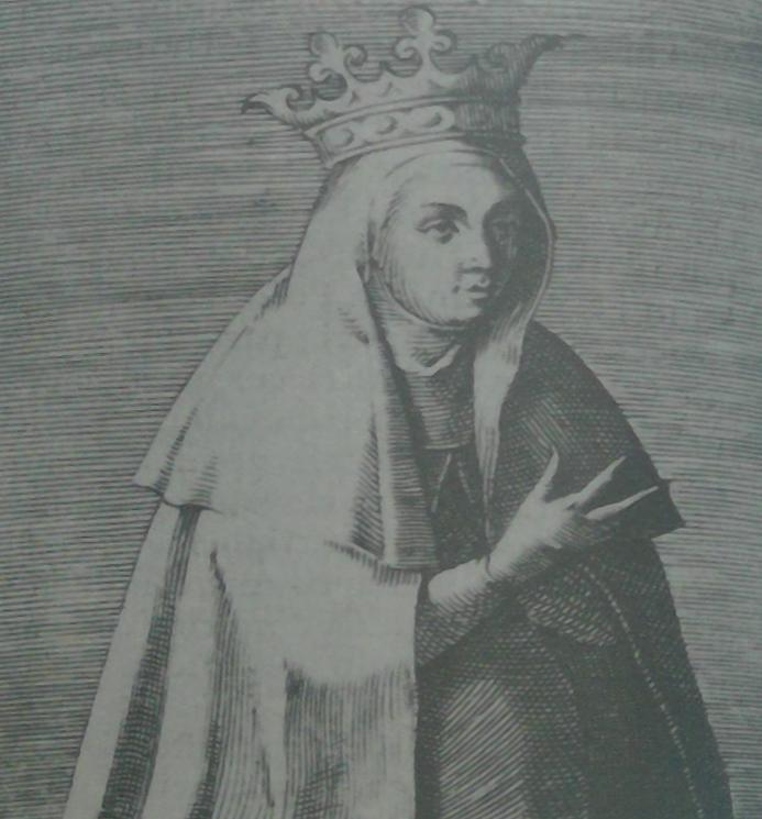 Wizerunek Jadwigi Andegaweńskiej z 1594 roku zamieszczony w książce Principum et Regum Polonarum imagines Arnolda Myliusa.