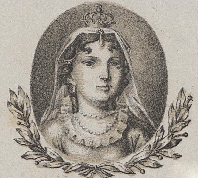 Aldona Anna w wyobrażeniu Michała Stachowicza. Grafika XIX-wieczna