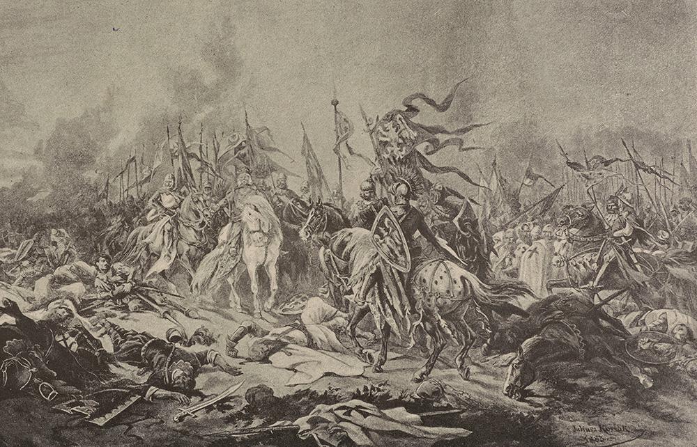 Bitwa pod Płowcami na obrazie Juliusza Kossaka.