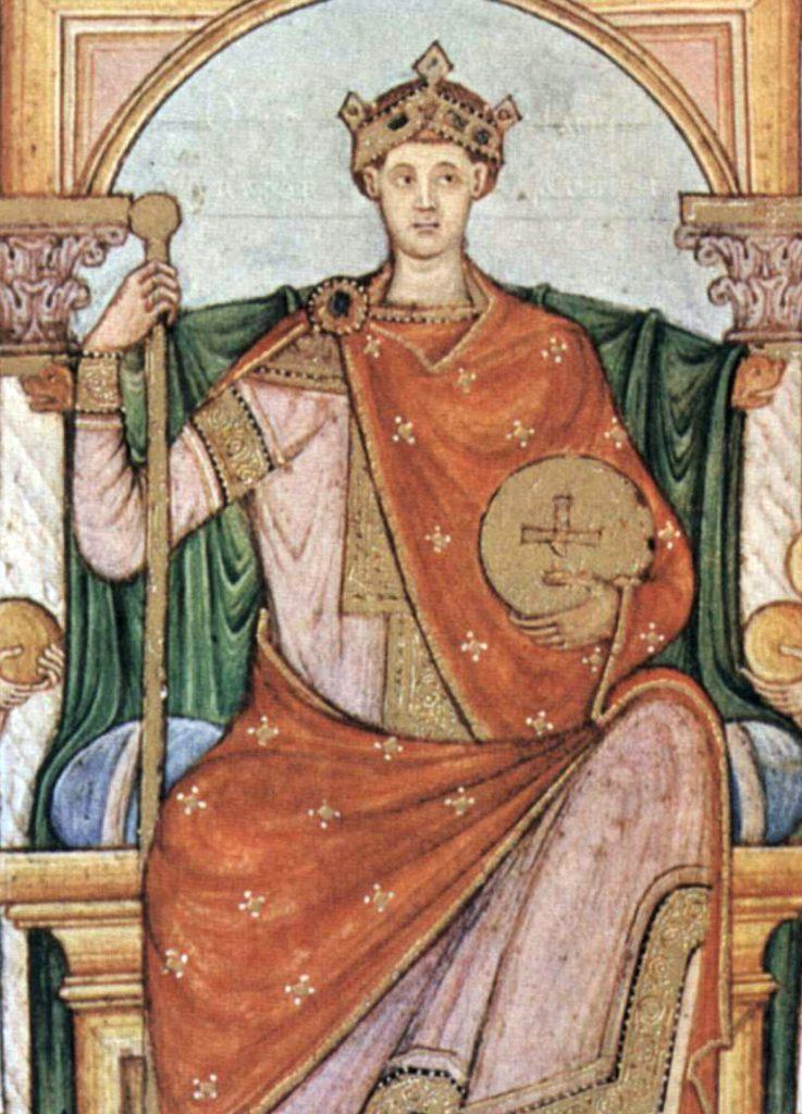 Cesarz Otton II na miniaturze z epoki.