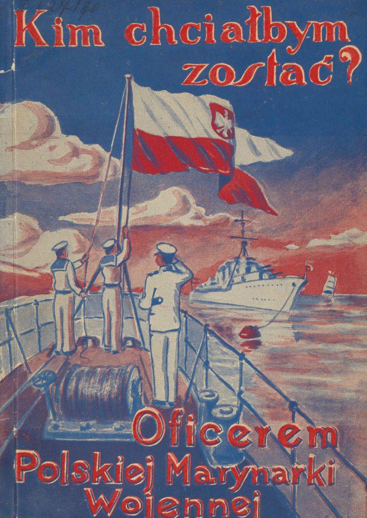 Okładka broszury propagandowej marynarki wojennej