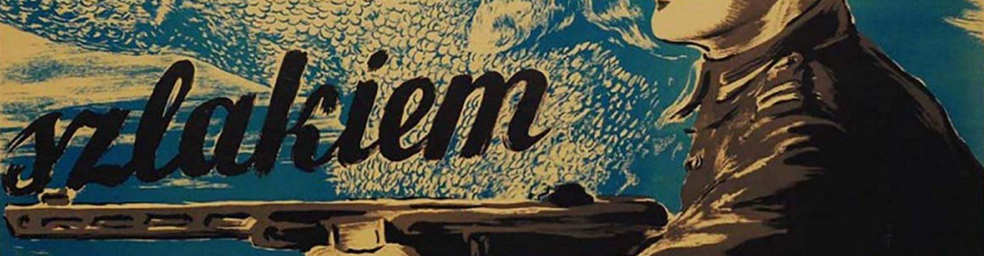 Fragment plakatu z lat 40. Szlakiem Krzywoustego