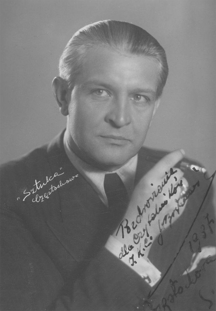 Franciszek Brodniewicz. Fotografia portretowa z autografem