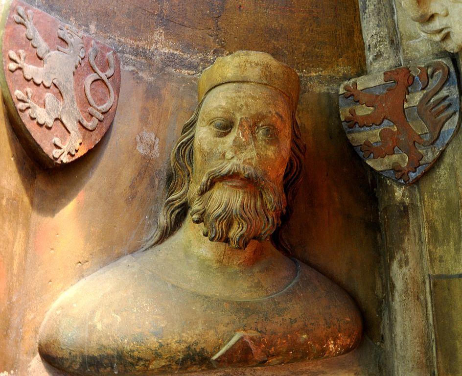 Jan Luksemburski. Płaskorzeźba z XIV wieku.