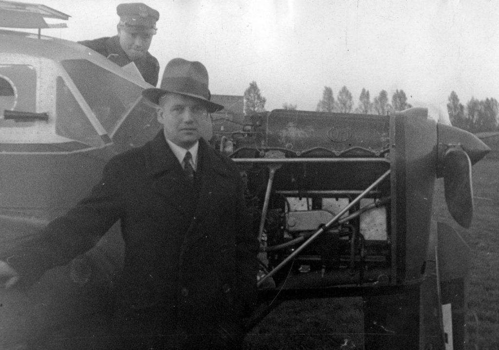 Inżynier Jerzy Dąbrowski na zdjęciu z 1933 roku (domena publiczna).