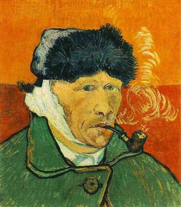 Jeszcze jeden autoportret z zabandażowanym uchem (domena publiczna).
