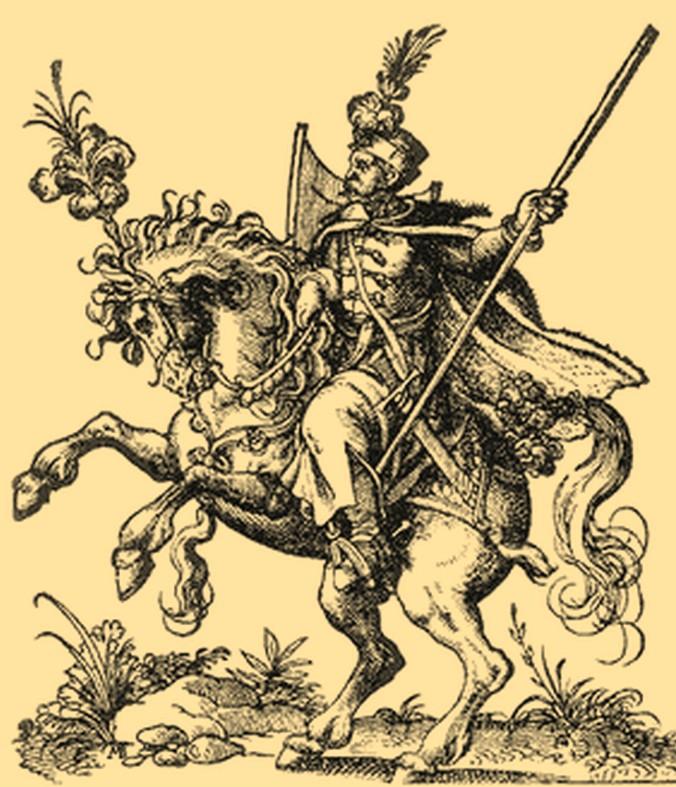 Już pod koniec XV wieku powołano do życia obronę potoczną. Ilustracja poglądowa (domena publiczna).