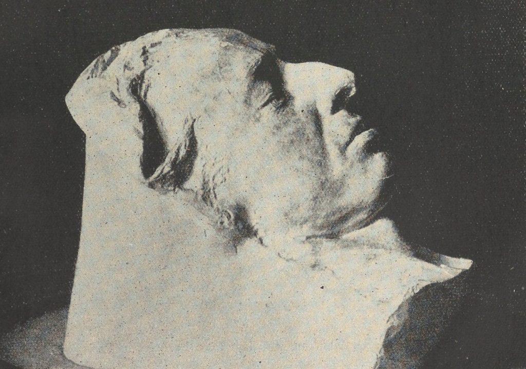 Maska pośmiertna Fryderyka Chopina (domena publiczna).