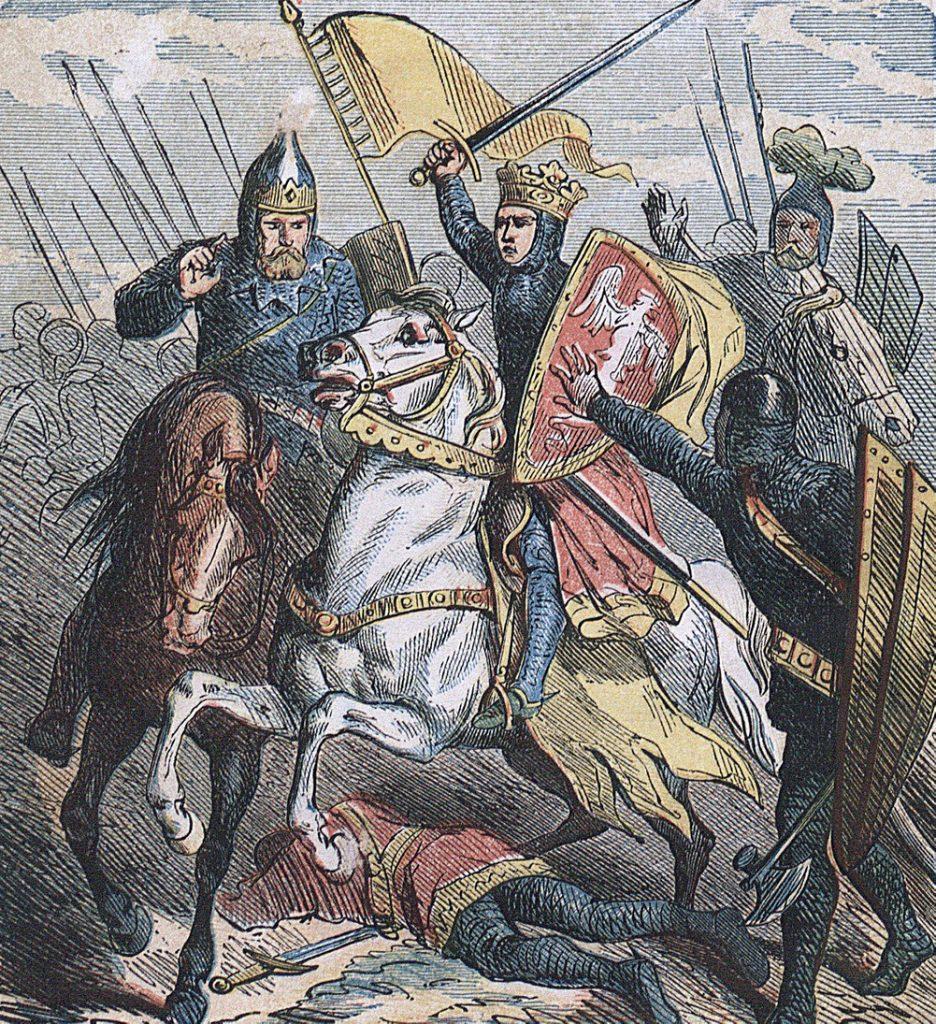 Młody Bolesław Krzywousty w bitwie.