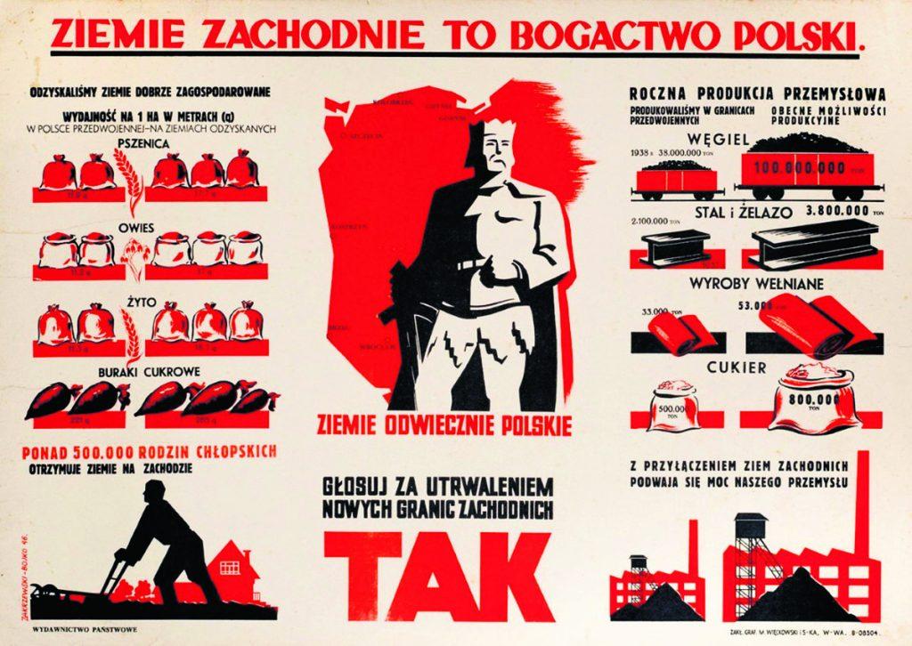 Komunistyczny plakat. Trzymamy straż nad Odrą