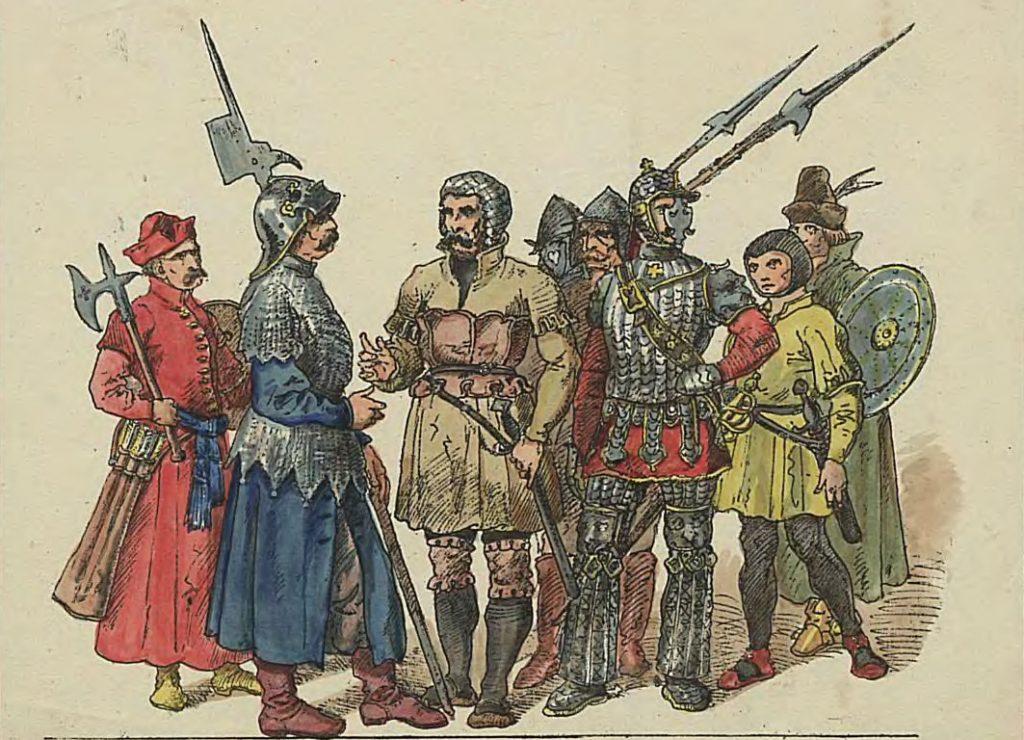 Polscy żołnierze z początku XVI wieku według Jana Matejki (domena publiczna).