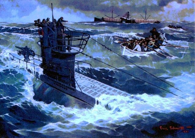 U-99 na obrazie Erika Schmidta (CC BY 3.0).
