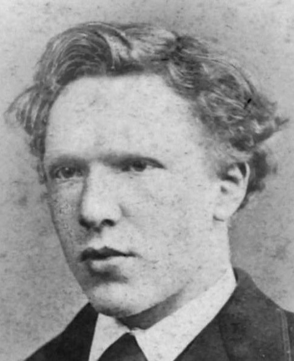 Vincent Van Gogh na zdjęciu z początku lat 70. XIX wieku (domena publiczna).