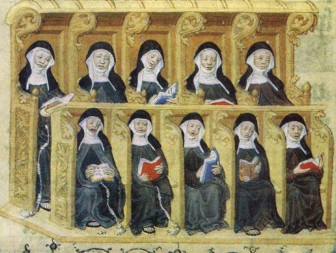 W momencie, gdy Mieszko wybrał sobię Odę na żonę ta od dawna była już mniszką (domena publiczna).