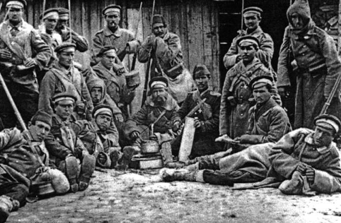 Wyżywienie rosyjskich żołnierzy 150 lat temu też pozostawiało wiele do życzenia (domena publiczna).