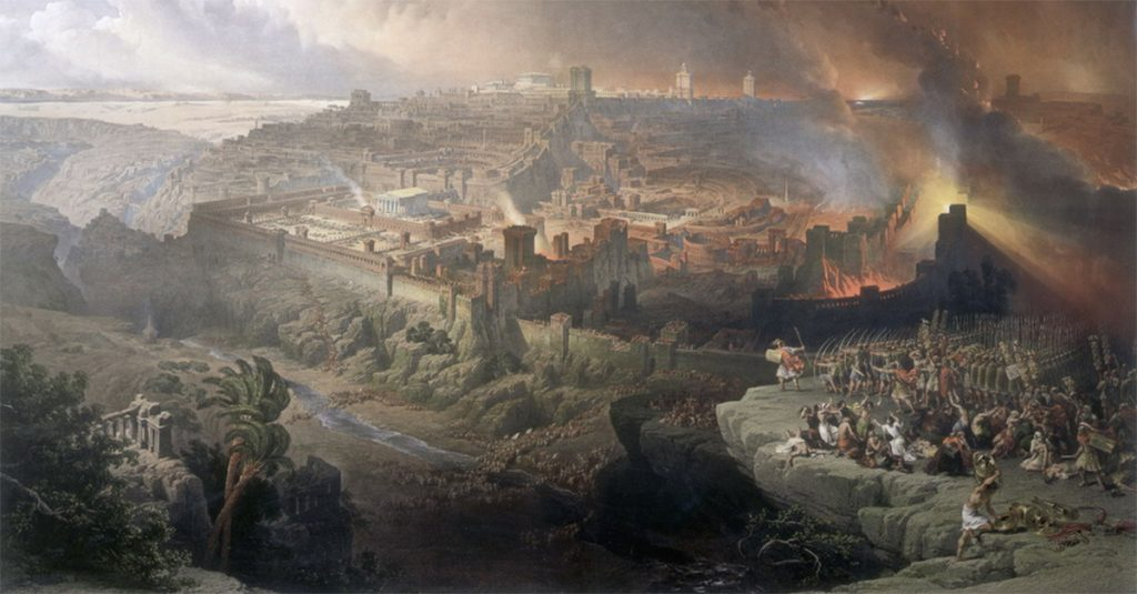 Zburzenie Jerozolimy w wyobrażeniu XIX-wiecznego artysty.