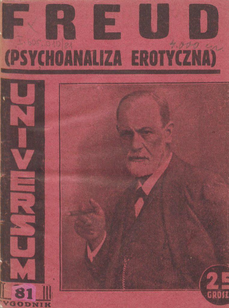 Zygmunt Freud na okładce książki Psychoanaliza erotyczna