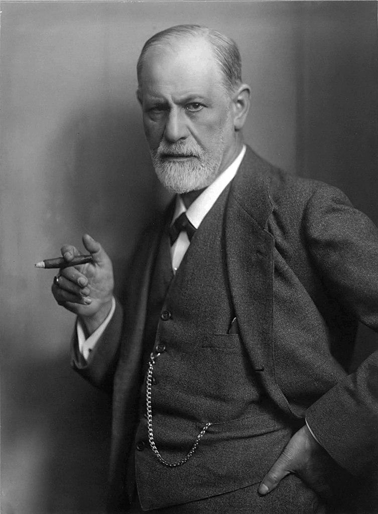 Zygmunt Freud z cygarem na sławnym zdjęciu z początku lat 20.