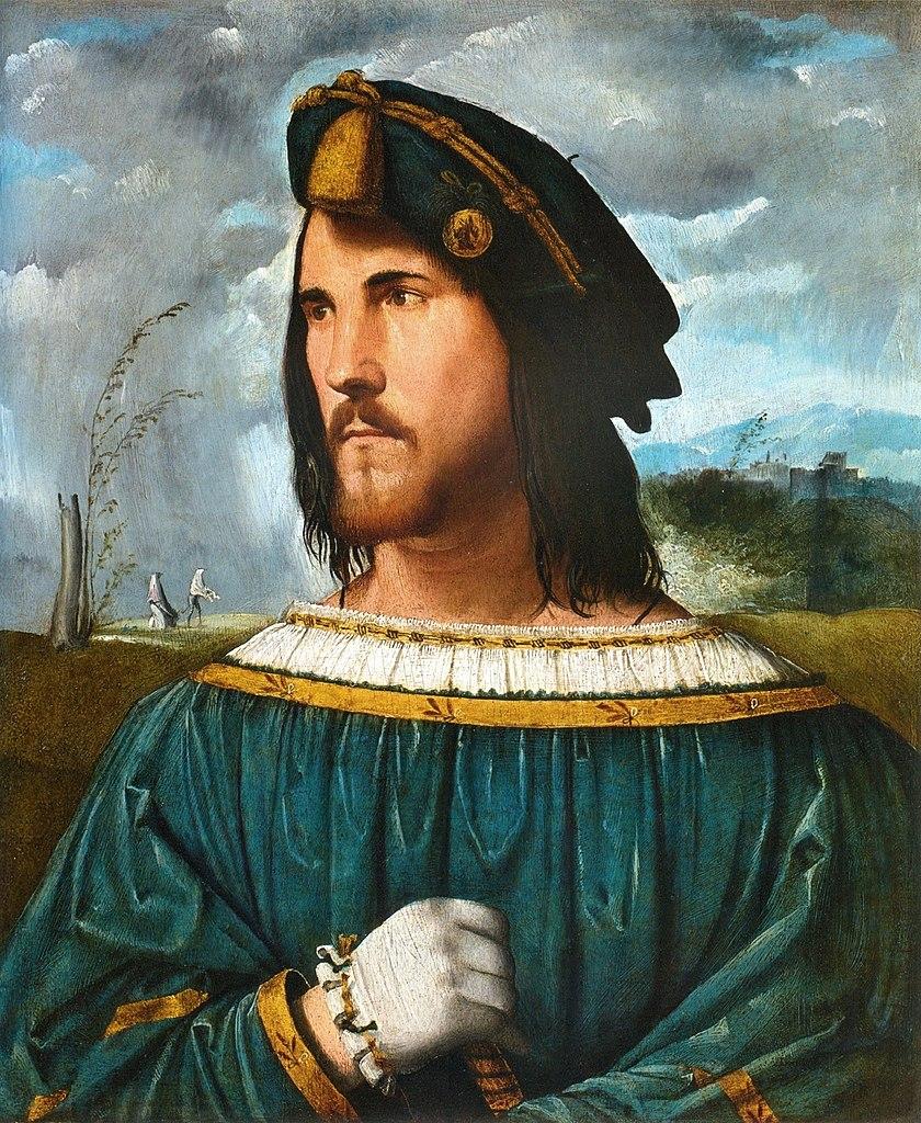 Cezar Borgia na portrecie autorstwa Altobello Meloniego (domena publiczna).