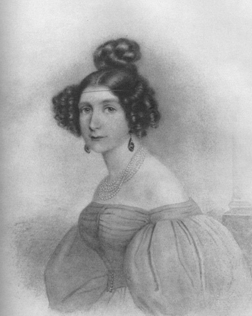 Eliza Radziwiłłówna na portrecie autorstwa Friedricha Juliusa Ludwiga Sebbersa (domena publiczna).